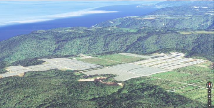 サンヒルズ沖縄の航空写真